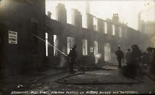 Stockport Mill Fire. Firemen Playing on Messrs. Briggs & Armstrong # 1.