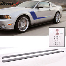 05-14 Ford Mustang PU Side Skirt Add On Rocker Panels Splitters