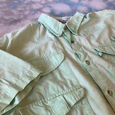 Columbia PFG Sz L Green Short Sleeve Button Down Vented Four Pocket Shirt Men