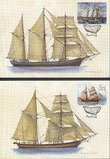 Aland 2015 FDC Maxi Card nr 90 - 91 - Sailing Ship - Leo and Lemland - Finland