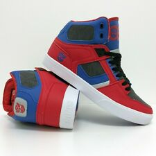 OSIRIS SHOES TRANSFORMERS NYC 83 VLC OPTIMUS PRIME RED BLUE TRAINERS (UK 8)