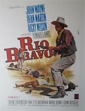 Affiche entoilée RIO BRAVO Howard Hawks JOHN WAYNE Dean Martin WESTERN 60x80cm