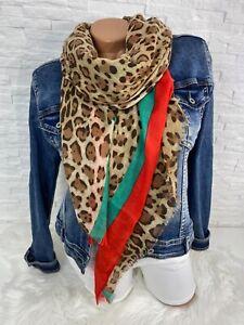Blogger Trend leichter Schal Tuch scarf animal Leo Leopard   Streifen  Neu