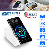 Power Bank Wireless Fast Charging Station USB Portable Battery Charger Universal