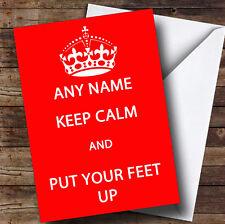 Keep Calm Personalised Retirement Greetings Card