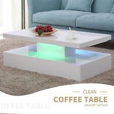 Design High Gloss White LED Lighting Coffee Table in White Living Room Furniture