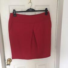 Papaya Red Tulip style skirt