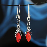 Koralle Silber 925 Ohrringe Damen Schmuck Sterlingsilber H0353