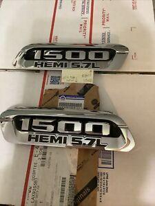 2019-2022 Ram 1500 (New Body) 5.7L Hemi Chrome Hood Bezel Left & Right OEM