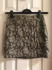 J.Crew Collection Crushed Metallic Jacquard Mini Skirt Size 0