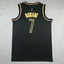Kevin Durant #7 Brooklyn Nets Camiseta Jersey Baloncesto Edición Oro Negro