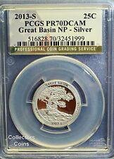 2013 S PCGS70 DCAM Great Basin (Nevada) Silver ATB National Park Quarter