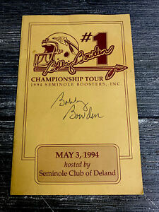 Bobby Bowden Signed 1994 Seminoles Club Of Deland Coach Football