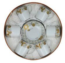 Esspresso Coffe Set, Cuban Coffe German Design Fine Porcelain 12 Pieces
