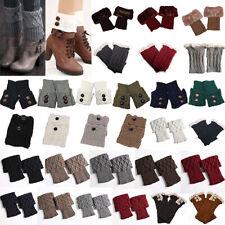 Womens Knitted Boot Toppers Pattern Cuffs Winter Leg Warmers Knit Crochet Socks
