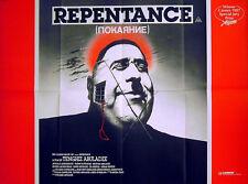 REPENTANCE 1984 Tengiz Abuladze Avtandil Makharadze UK QUAD POSTER