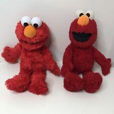 "Tickle Me Elmo 2016 Sesame Street Hasbro Talking Doll 14"" Red W/ 2nd Plush Elmo"