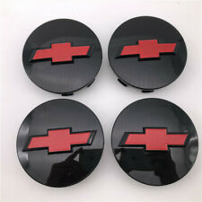 4 Glossy black red 3.25'' For Chevy Wheel Center Hub cap Suburban Silverado 1500