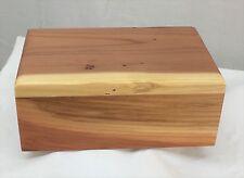 Medium redwood pet cremation urn - handmade in the USA - round top