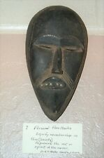 Vintage Hand Carved Authentic Poro Mask From Liberia Africa Pre-1940 (2)