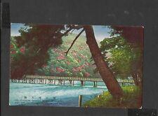 Vintage Colour Postcard Classical Wooden Bridge of Togetsu Kyoto Japan unposted