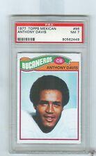 1977 Topps Mexican  # 96  ANTHONY DAVIS  Bucs  USC  (R)   PSA 7