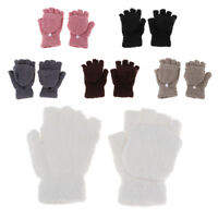 Waterproof Winter Warmest Plush Mittens Short Fingerless Gloves Half Finger