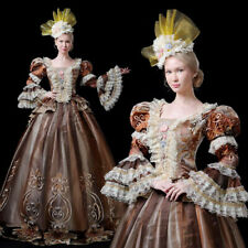 Women's Rococo Ball Gown Gothic Victorian Dress Costume Gown Reenactment Theater