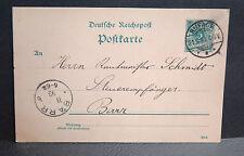ENTIER POSTAL ALLEMAND 5 VERT oblitéré de RUFACH (ROUFFACH) du 21. 9. 93. (1893)