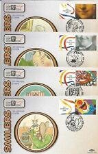 GB FDC 2000 SMILERS-10 BENHAM SILK COVERS