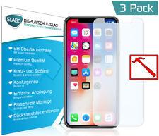 """3 x Slabo PREMIUM Panzerglasfolie für iPhone X KLAR """"Tempered Glass"""" 9H"""