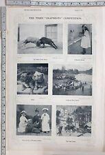 1915 Inde Imprimé Burma Rivière Scène ~ Mail Tonga ~ Enfants Habillé As