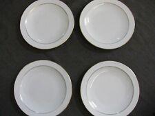 "4 Corning Centura Gold Line Trim Salad / Dessert Plates 7 7/8"" VGC FREE SHIPPING"