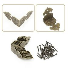 12Pcs Antique Gold/Bronze Decor Wood Case Jewelry Box Feet Leg Corner Protector