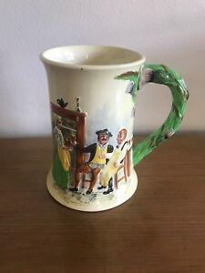 """Crown Devon Fieldings Musical Mug """"Auld Lang Syne"""" c1935-62: Restored Mechanism"""