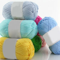 KQ_ 1Pc 50g Per Skein Soft Bamboo Crochet Cotton Knitting Baby Knit Wool Yarn Pr