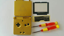 CARCASA COMPLETA+PANTALLA COMPATIBLE GAME BOY ADVANCE SP GOLD ZELDA NEW/NUEVO