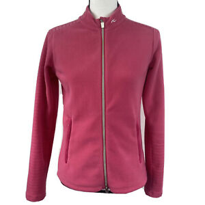 KJUS Womens 36 Small Solid Pink Long Sleeve Full Zip Up Fleece Jacket