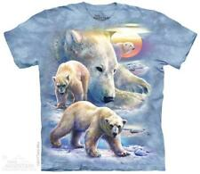 The Mountain Unisex Adult Sunrise Polar Bear Collage T Shirt Large 1058952
