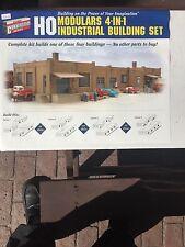 Walthers Cornerstone HO Kit Moduulars 4n1 Ind Bldg. #933-3755