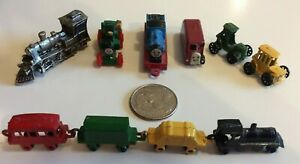 THOMAS THE TRAIN MINI DIE CAST METAL TRAINS/TRACTOR ERTL/UNBRANDED - LOT of 10