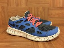 RARE❤ Nike Women's Free Run 2 Running Shoes Slate Blue Pink 536746-402 Sz 7.5