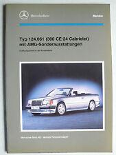 Mercedes Typ 124 - 300 CE-24 Cabrio mit AMG-Sonderausst. - KD Einführungsschrift