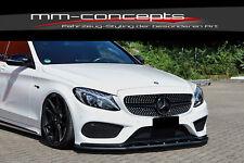 CUP Spoilerlippe für Mercedes C Klasse W205 43 AMG Front Spoiler Schwert INE