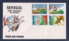 ASg/ Sénégal  enveloppe  1er jour  oiseaux parc national de Djoudj    1987