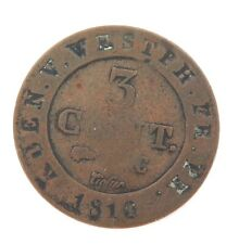 .1810 GERMANY WESTPHALIA 3 CENTIMES COIN.