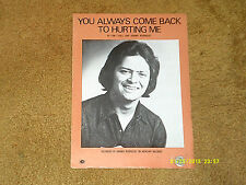 Johnny Rodriguez sheet music You Always Come Back to Hurting Me '73 4 pages Vg+