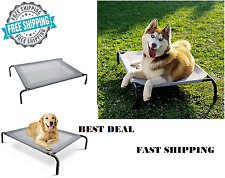 Dog Pet Elevated Bed Indoor Outdoor Raised Pet Cot Durable Steel Frame Healthy