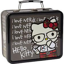 NEW Sanrio I Love Nerds Punk Hello Kitty Tin Lunch Box