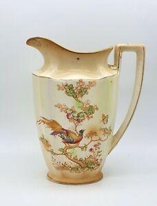 Edwardian Porcelain, Crown Ducal Avis, Late 1910s, hand painted water jug